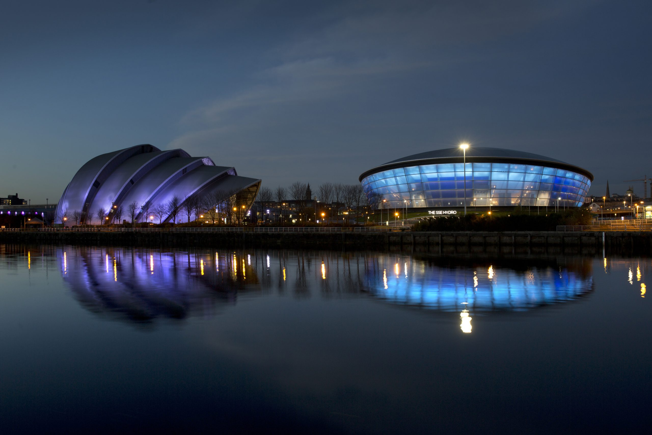 The SSE Hydro lit for Diabetes Awareness Day  Picture Marc Turner / PFM Pictures